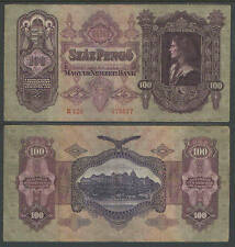 Hungary 100 Pengo Currency Catalog P98 1.7.1930 VG or BETTER     LARGE SIZE NOTE