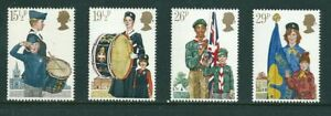 MINT 1982 GB YOUTH ORGANISATIONS SCOUTS GIRLS GUIDES  STAMP SET OF 4 MUH
