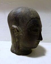RARE Bouddha petite statue tête Noir Cast Métal Bronze? antique vintage