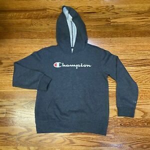 Champion Youth Pullover Sweater Hoodie Gray Size Medium 10/12 Stylish Used Flaw