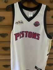 Ben Wallace #3 Detroit Pistons NBA Majestic Jersey 2005 Finals White Size XL FS