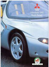 Mitsubishi 1992 UK Market Sales Brochure Colt Lancer Galant Sigma Shogun