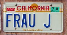 "Original California ""The Golden State"" Vanity US Nummernschild"