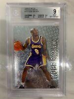 1996-97 Kobe Bryant Fleer Metal Precious Metal Rookie #181 BGS 9 Mint Lakers