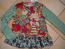 (233) Nolita Pocket Girls Materialmix Shirt Logo & Mädchen Glitzer Druck gr.128