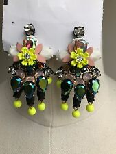 New Women J.Crew Floral Confetti Earrings