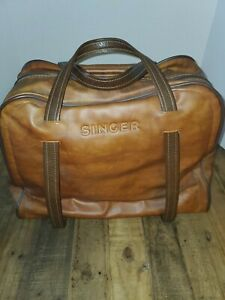 Singer Merritt 9614 sewing machine for parts only.leather bag, foot pedal parts