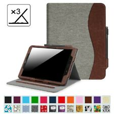 """For Samsung Galaxy Tab S3 9.7 / E 8.0"""" 9.6"""" Leather Case Cover Corner Protection"""