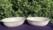 Vintage PFALTZGRAFF Tea Rose Dinner Serving Bowl Dishes SET of 2 10 inch ❤️sj17j