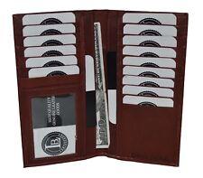 New Men's Leather Long Wallet Pockets ID Card Clutch Bifold Purse