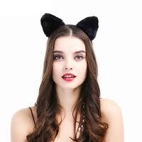Eg _ Bello Felpa Orecchie di Gatto Donna Incantevole Fascia per Capelli la