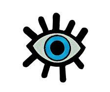 Patch toppe toppa ricamate termoadesiva occhio blu