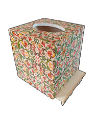 Handmade Beautiful Decoupage Wood Tissue Box Cover With Bottom Florentine Rossi