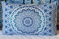 Indian Ombre Mandala Pillow Sham Cotton Throw Indian Bed Cushion Cover Decor