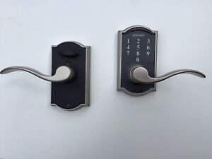 Schlage FE695 Keyless Electronic Touch Lever (Satin Nickel)