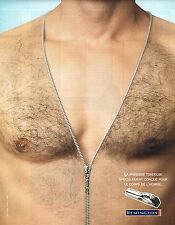 PUBLICITE ADVERTISING 025  2005  REMINGTON tondeuse homme