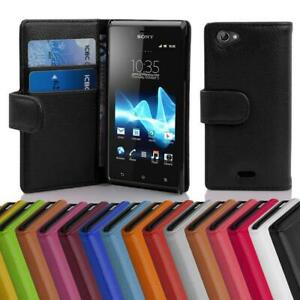 Case for Sony Xperia J Phone Cover Card Slot and Pocket Wallet