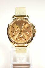 Coach 14502490 Boyfriend Gold Tone Mesh Chronograph Crystal Watch