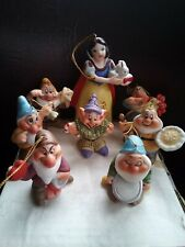 Schmid 50th Anniversary 1987 Walt Disney Snow White & Seven Dwarfs Ornaments