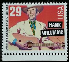 1993 29c Hank Williams, Country Music Hall of Fame Scott 2723a Mint F/VF NH