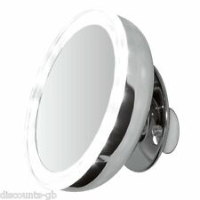 """Clearview LED Illuminated Suction Mounted 5"""" Mirror - 5x Magnified Batt Operated"""