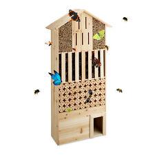 Insektenhotel natur Größe XXL Bienen Schmetterlinge Igelhaus stehend Bienenhotel