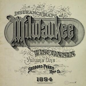 Milwaukee, Wisconsin~Maps on a CD 103  PDF files with very high resolution.