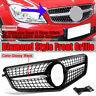 For Mercedes Benz C-CLASS W204 08-14 DIAMOND Grille C180 C200 C300 Black Grill