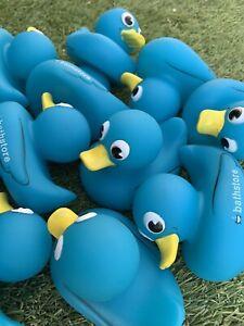 Pack of 30 New Blue Rubber Ducks NOVELTY BATH TOY PLAY Duck race Job Lot Fun