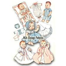 "Baby Doll Clothes Vtg Pattern ~ for 8"" Ginny, Ginnette, Wendy, Alexander-kins"