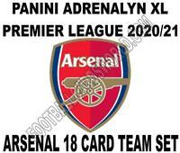 Panini Premier League 2020/21 Adrenalyn XL ARSENAL 18 Card Team set inc Badge