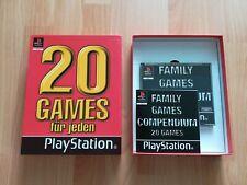 PLAYSTATION 1 PS 1 FAMILY GAMES COMPENDIUM 20 Spiele BOX NEU Videospiele TOP RAR