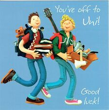 Off To Uni, GOOD LUCK AT UNIVERSITY Card, From the One Lump or Two Collection