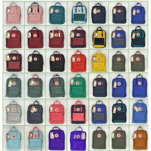 7L/16L/20L HOT Unisex Fjallraven Kanken Backpack Travel Shoulder School Bags