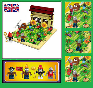 387pcs Plants vs Zombies Garden Game Building Blocks Bricks Kids DIY Toys BQP