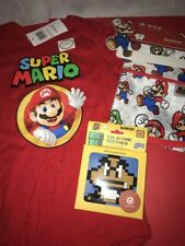 Bumkins Nintendo Baby Lot Mario Bib One Piece 24 Month Silicone Teether NEW