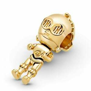 Original Pandora ® Star Wars C-3PO Gold Charm Pendant 769244C01 + Gift Pouch