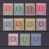 SEYCHELLES 1917, SG# 82-95, CV £53, Wmk Mult Crown CA, part set, MH/Used
