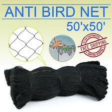 50'X50' Bird Netting Chicken Protective Net Screen Poultry Garden Aviary Game OY