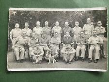 WW2 group soldiers,.original vintage photograph 1943, postcard size