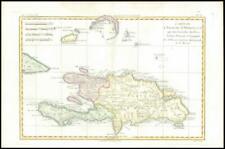 More details for 1780 antique map l'isle de st domingue dominican republic haiti bonne (bmii/4)