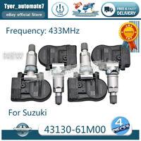 NEW 4PCS Tire Pressure Sensor for Suzuki Vitara SX4 S-Cross Ignis Baleno Swift