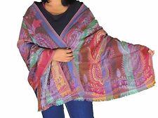 "Bohemian Paisley Kashmir Wool Shawl Winter Scarf Evening Dress Wrap Stole 78"""