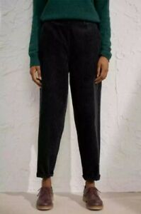 Seasalt Black Porfell Jumbo Cord Trousers Size 8 New Without Tags