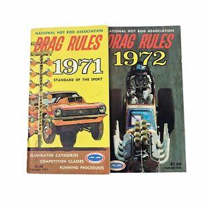 1971 & 1972 NHRA Hot Rod Association Drag Rules and Standards of Sport Booklets