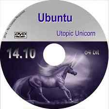 Ubuntu 14.10 Linux Live DVD OS Utopic Unicorn with office apps & browser 64 bit