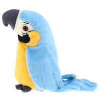 Waving Wings Talking Talk Parrot Repeats What You Say Funny Toy Gifts Blue