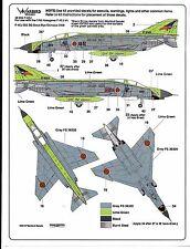 Warbird Colorful, Japanese F-4EJ Phantom Decals 1/48 034 7 Options