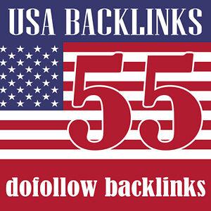 55 USA dofollow backlinks seo link building SEO, White hat backlinks, High DA