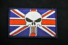 British Army -  Morale Patch - Punisher + Union Flag Velcro Patch - No1011